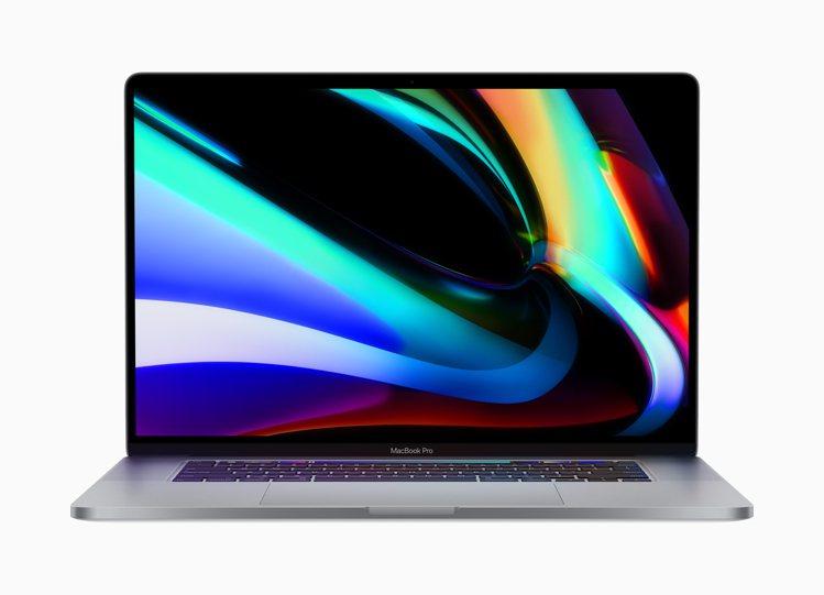 蘋果發表16吋MacBook Pro,建議售價77,900元起。圖/蘋果提供