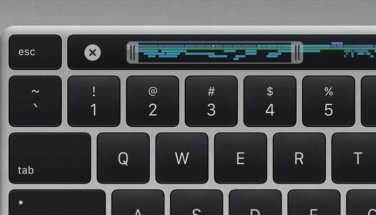 16吋MacBook Pro配備全新巧控鍵盤,採用重新設計的剪刀式結構以及1公釐...