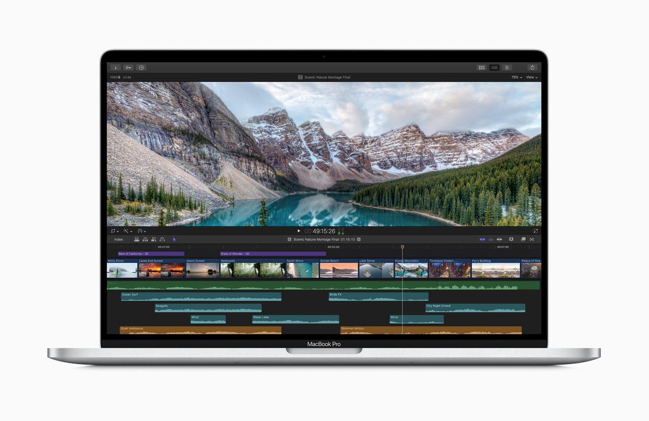 無論是編譯程式碼、剪輯多鏡頭影片或製作3D動畫,MacBook Pro讓使用者享...