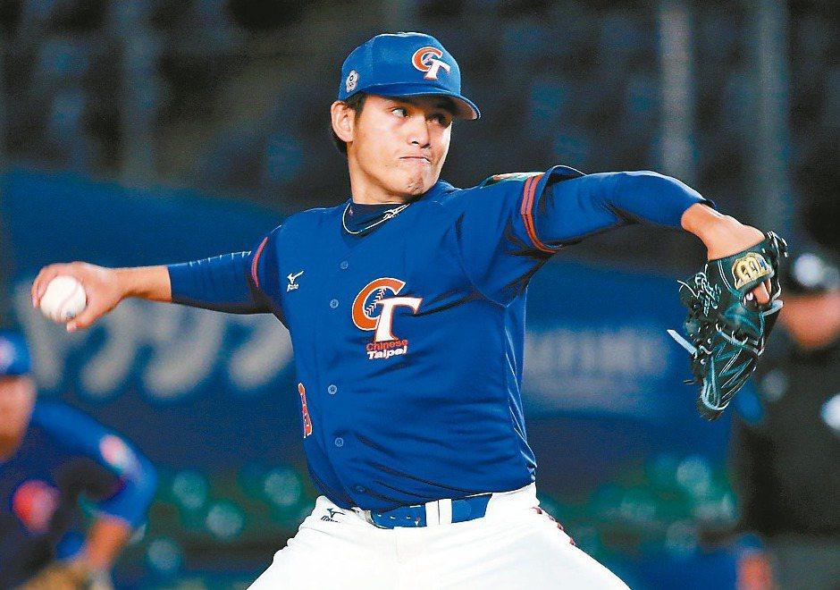 中華隊投手張奕用112球好投徹底封死了南韓隊。 圖/聯合報系資料照片