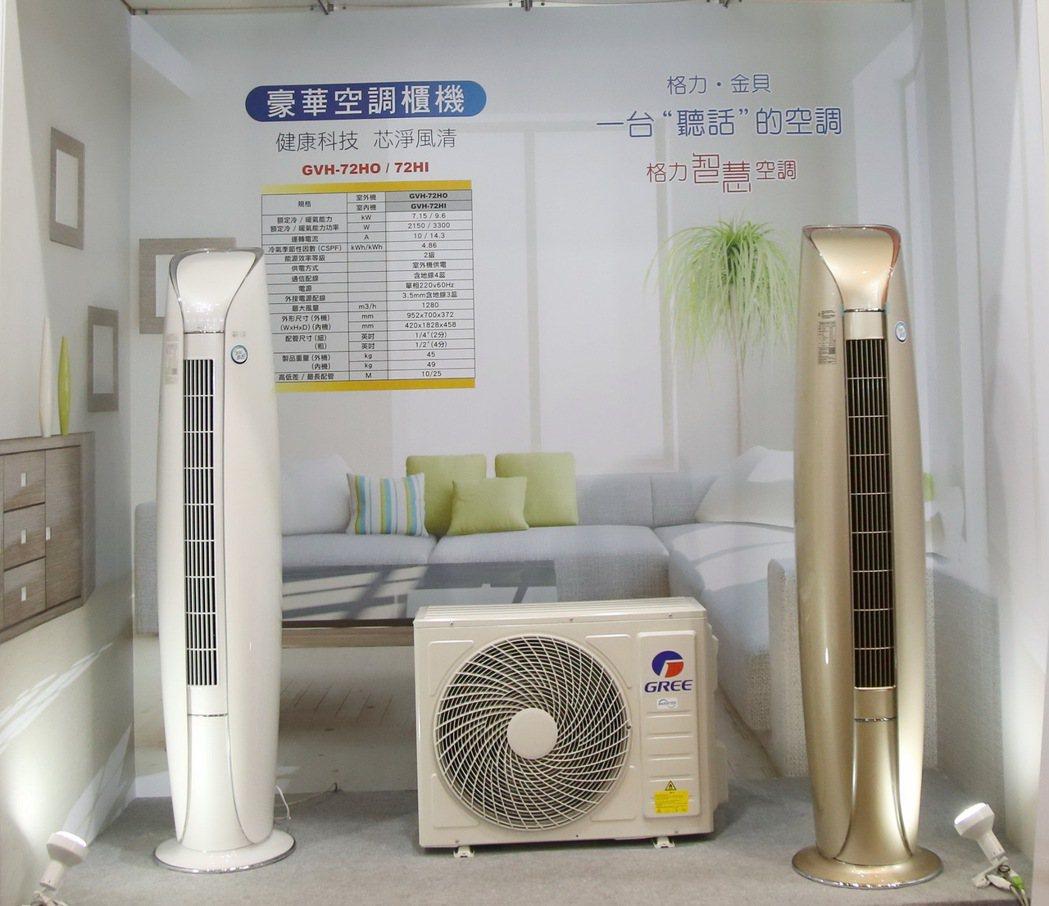 聲控櫃機是格力運用聲控技術操控空調獨特商品。 毛洪霖/攝影