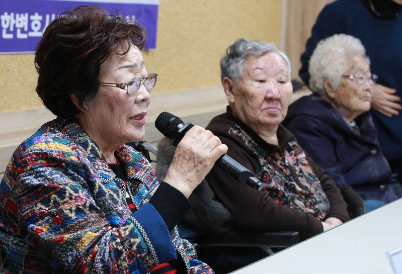 前慰安婦向日本政府索賠。 歐新社