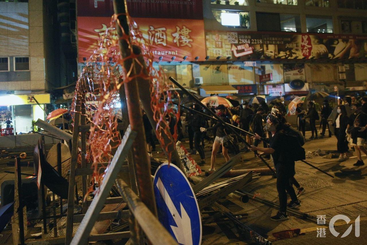 傳政府商討實施宵禁,以減示威人數。(香港01資料圖片)