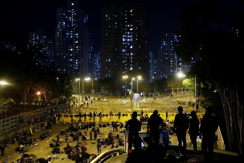 攝於11月13日,香港浸會大學。 圖/路透社