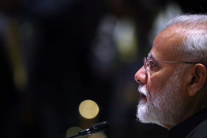 印度總理莫迪,攝於11月3日,東協—印度峰會。 圖/路透社