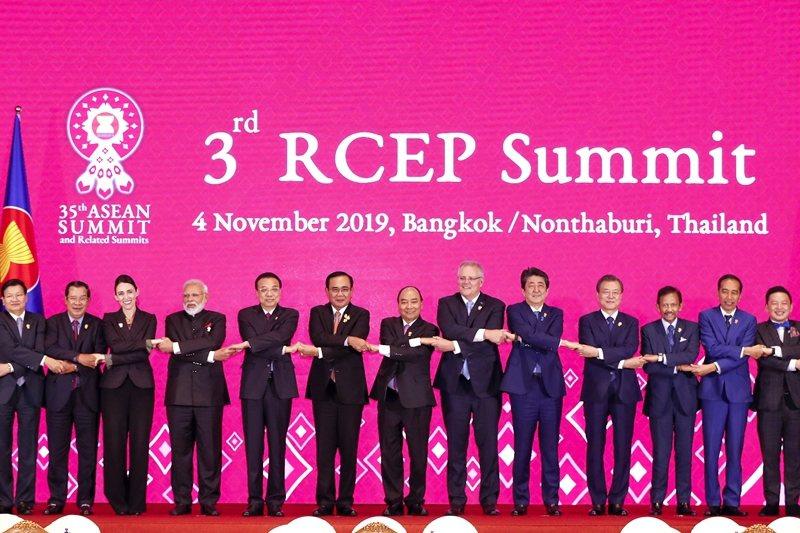 11月4日,亞太各國領袖、代表齊聚泰國曼谷,出席區域全面經濟夥伴關係協定(RCE...