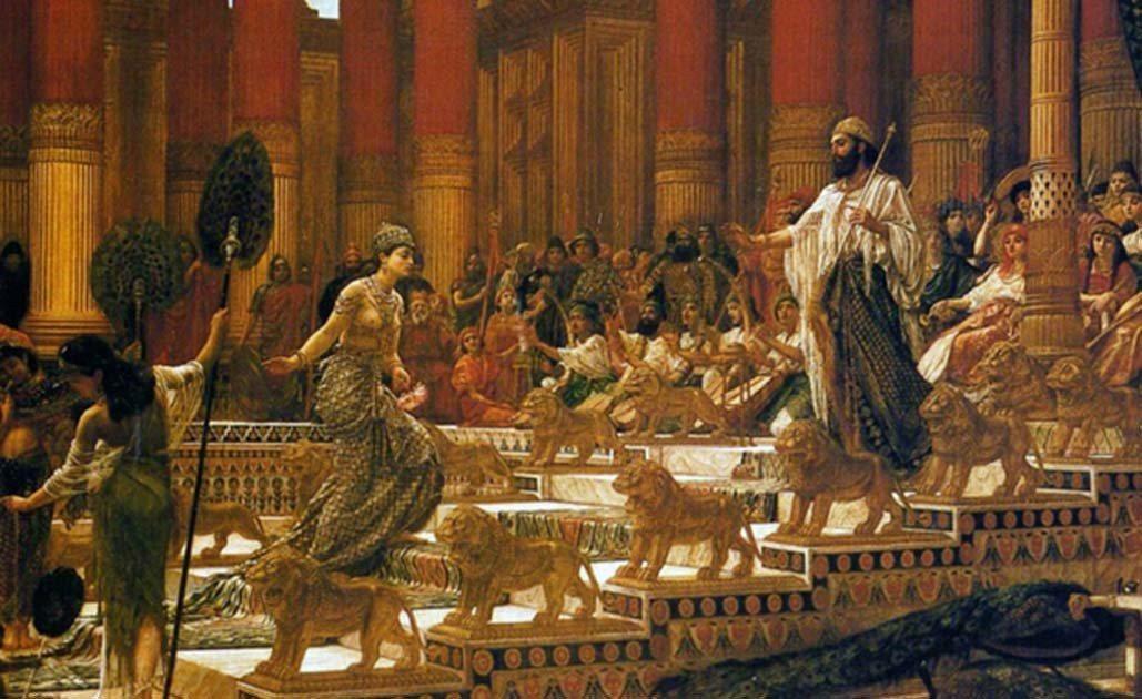所羅門王接見示巴女王