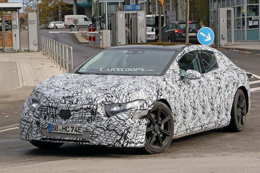 2021 Mercedes-Benz EQS路試捕獲 不像概念車反而像老大哥