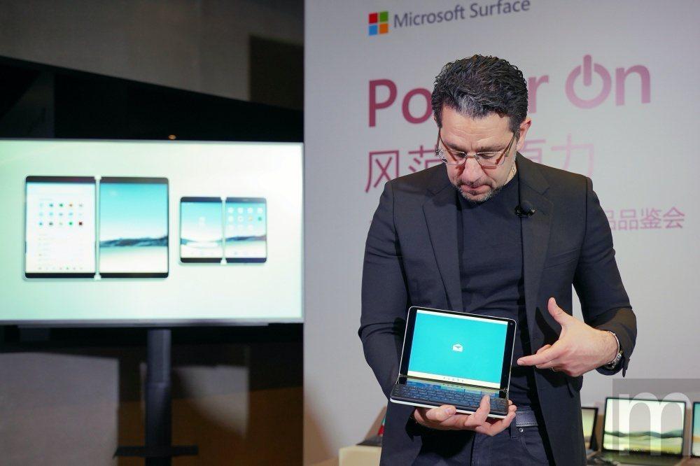 Panos Panay說明Surface Neo搭配鍵盤配件的使用體驗