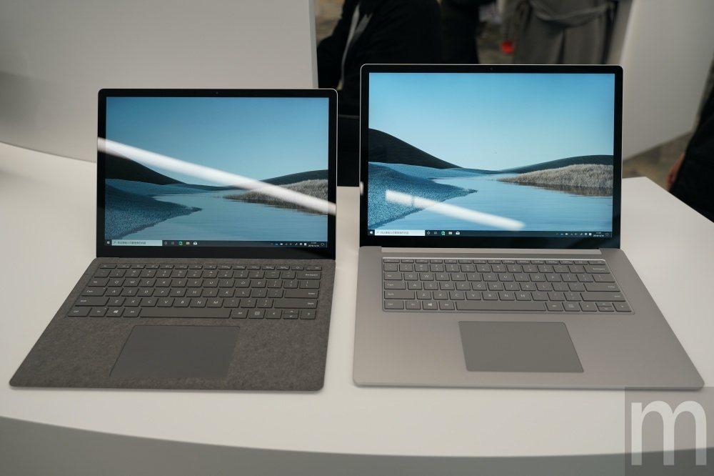 Surface Laptop 3 13.3吋 (左)與15.6吋 (右)