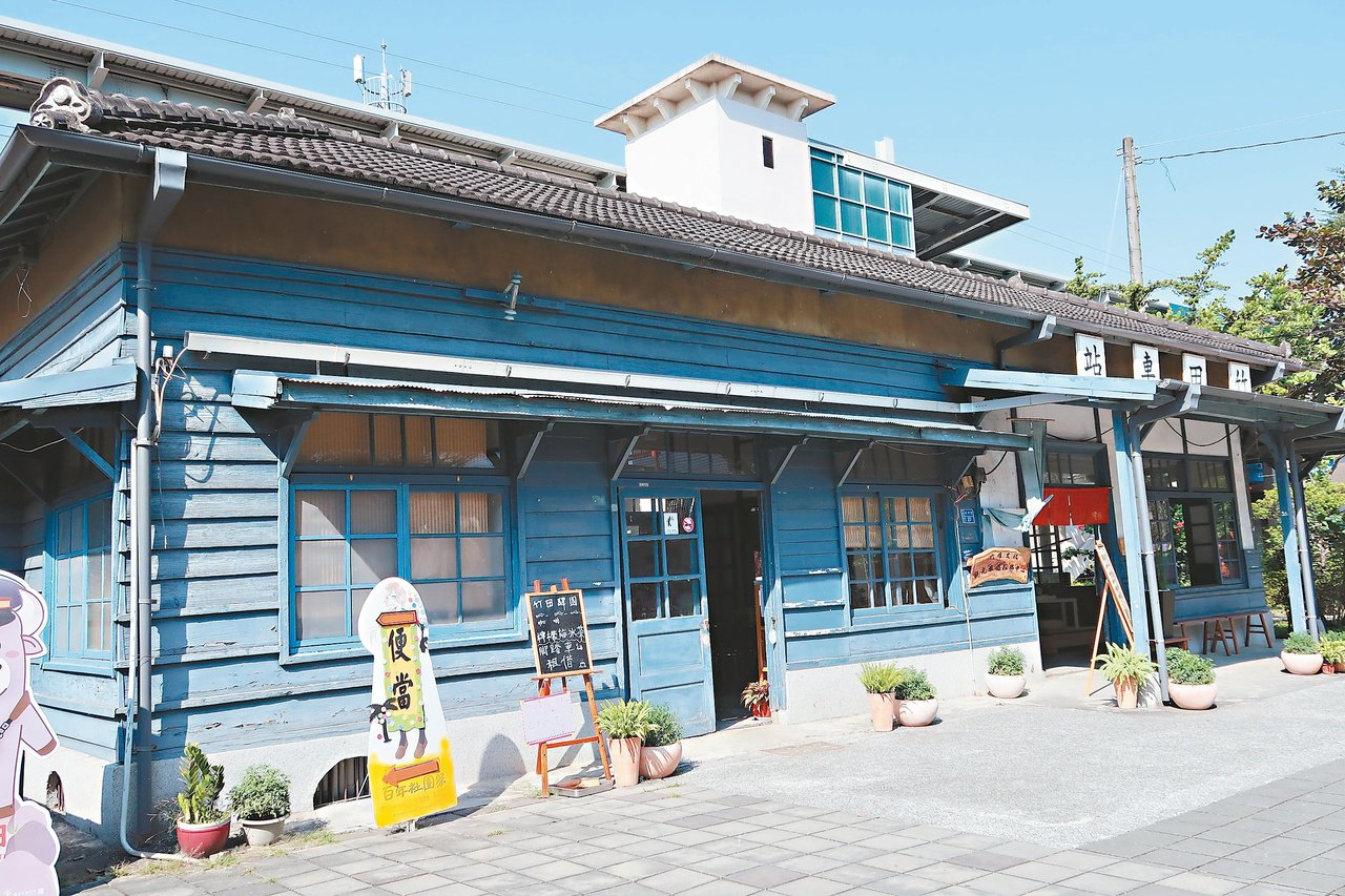 台鐵竹田車站舊站的木造站房,1939年改建保存至今,是台鐵局屏東線上唯一保存良好...