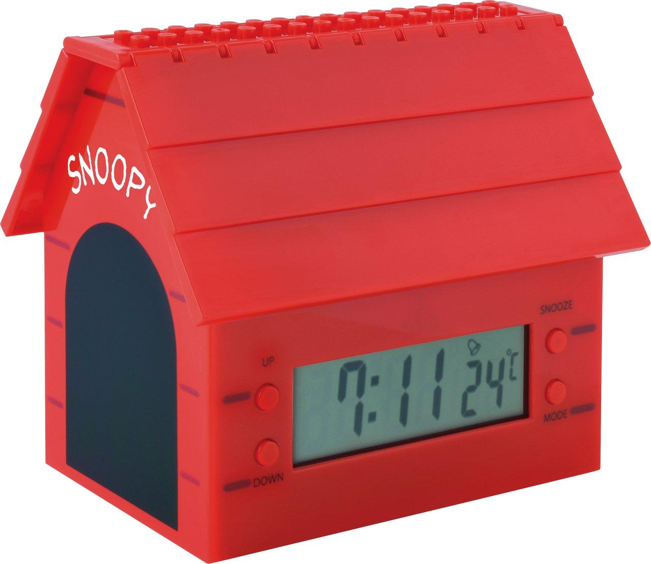 11月20日下午3點起開放預購的7-ELEVEN史努比「限量積木造型狗屋電子鐘」...