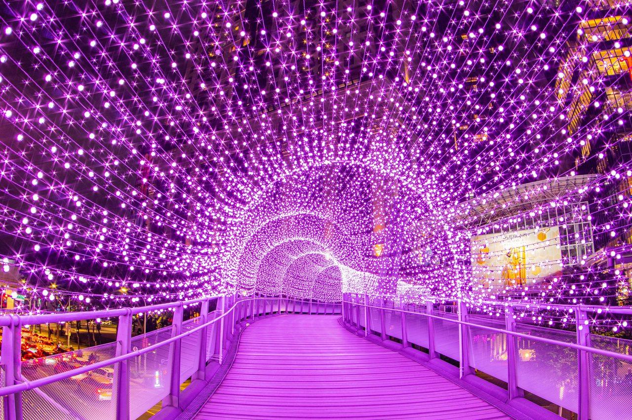 紫戀光廊-新站天橋新北市政府提供