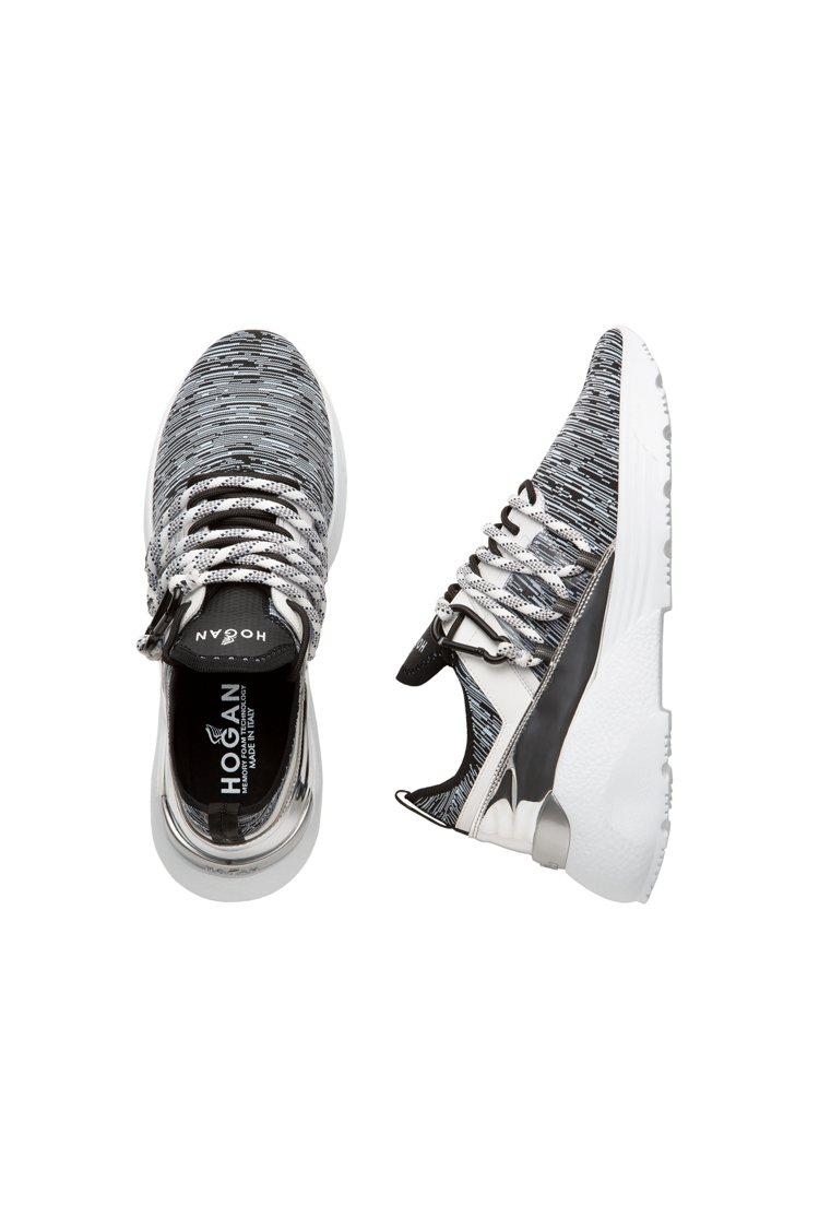 HOGAN Active One針織科技布料男士休閒鞋,27,300元。圖/迪生...