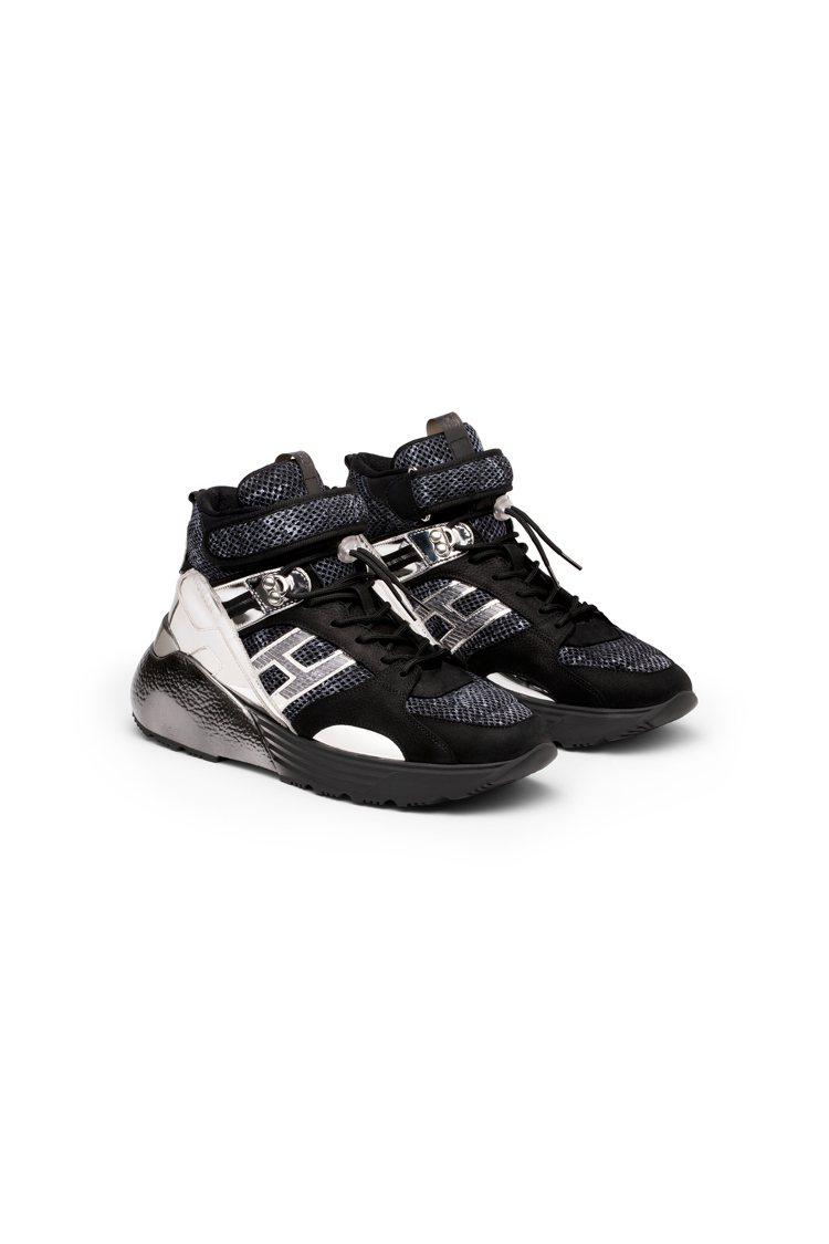 HOGAN Active One皮革亮鏡面男士休閒鞋,32,300元。圖/迪生提...