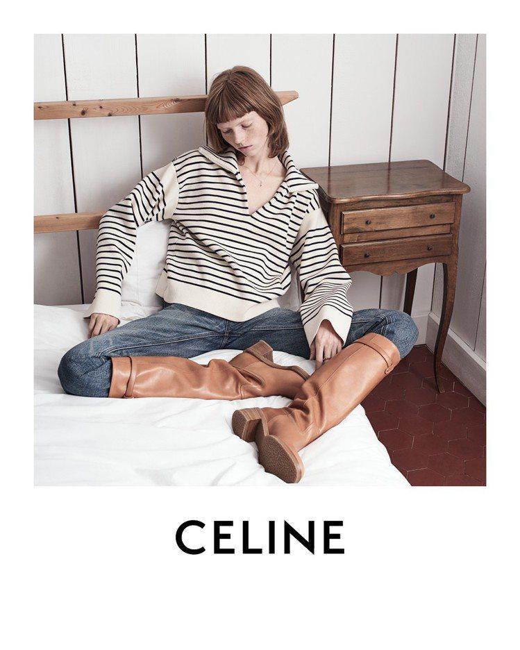 CELINE的2020早春系列形象廣告,由藝術總監Hedi Slimane親自掌...
