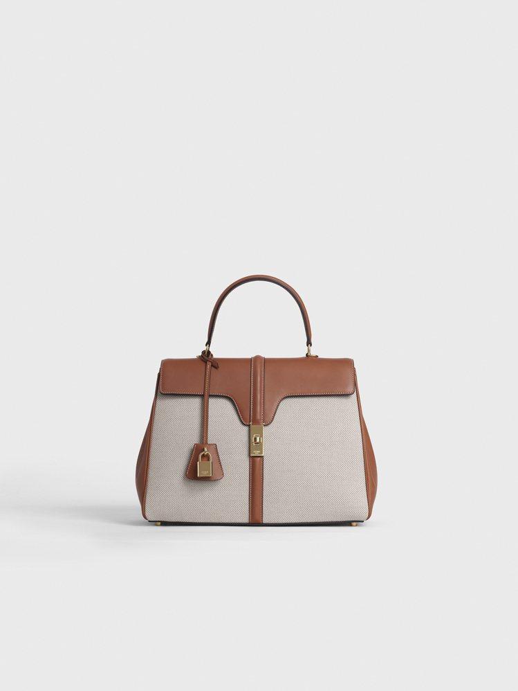 16小牛皮帆布中型提包,售價12萬5,000元。圖/CELINE BY HEDI...