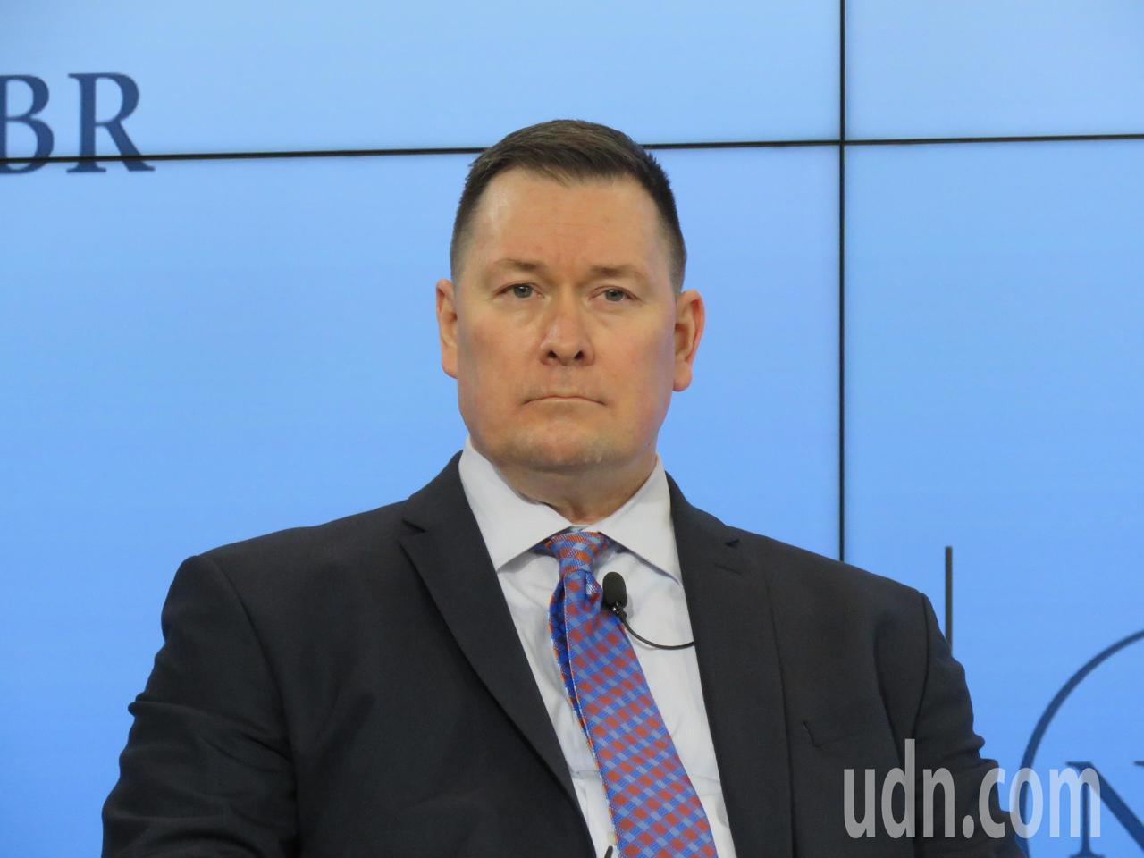美國國防部負責中國事務的副助理部長施燦德。華盛頓記者張加/攝影