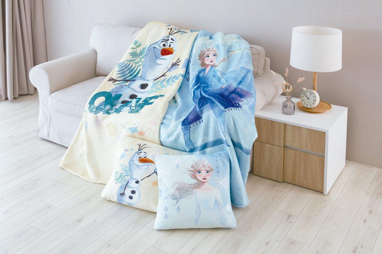 HOLA特力和樂《冰雪奇緣2》法蘭絨收納毯,原價2,980元、特價1,080元,...