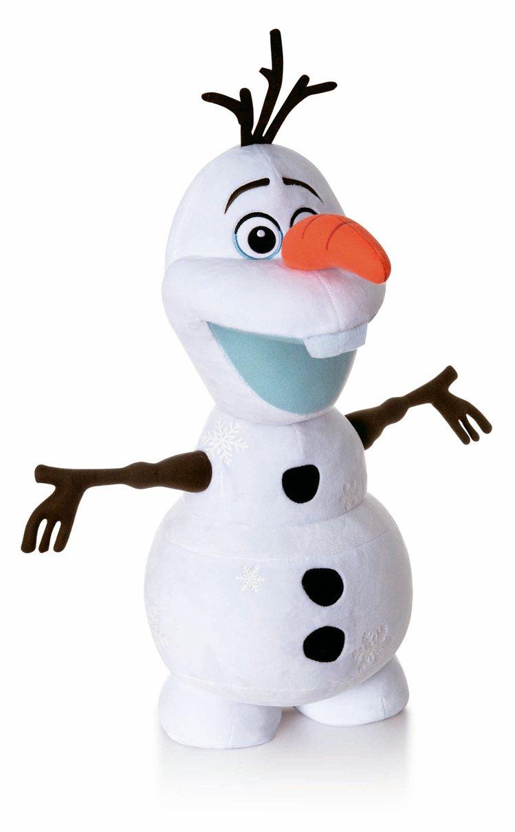 HOLA特力和樂《冰雪奇緣2》雪寶造型玩偶,原價1,490元、特價1,080元。...