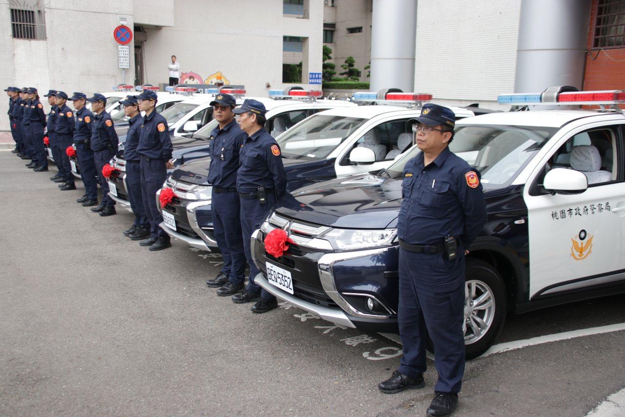 桃園市警局添購汽車54輛、機車204輛。記者曾健祐/攝影