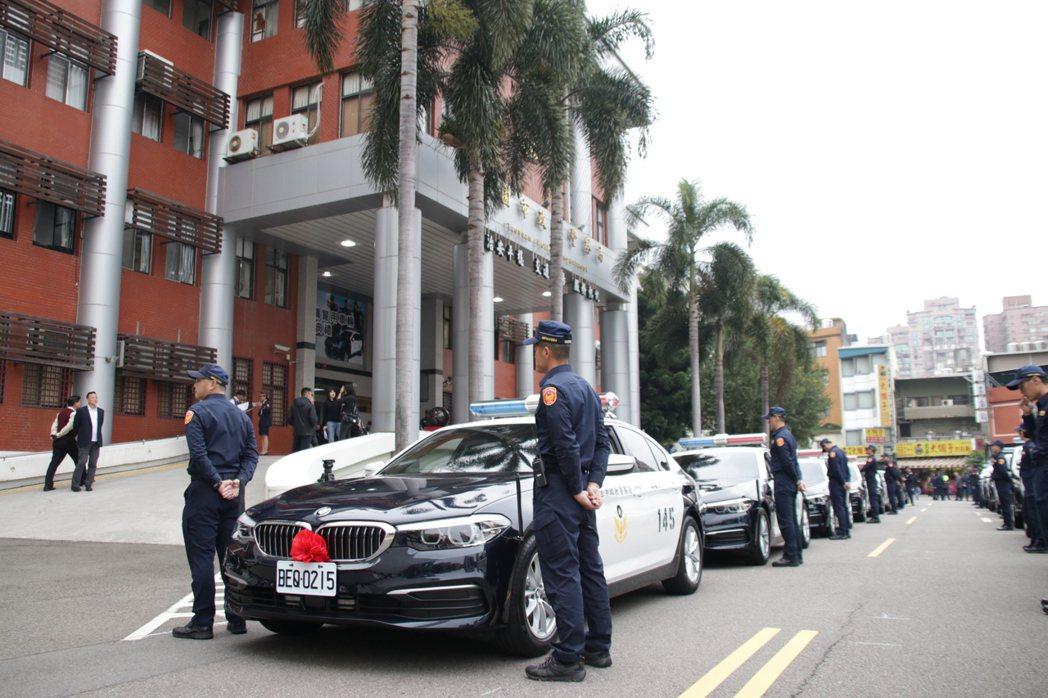 桃市警局今舉辦新購警用車啟用典禮。記者曾健祐/攝影