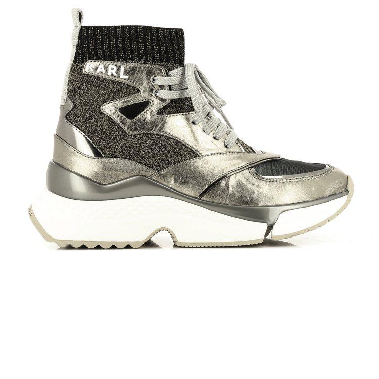 AVENTUR SIEGE銀色老爹鞋,售價8,980元。圖/KARL LAGER...
