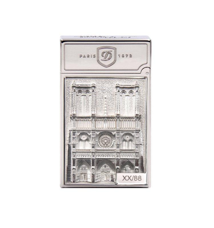 都彭世界地標高級訂製系列巴黎聖母院典藏打火機,限量88件,約29萬8,000元。...