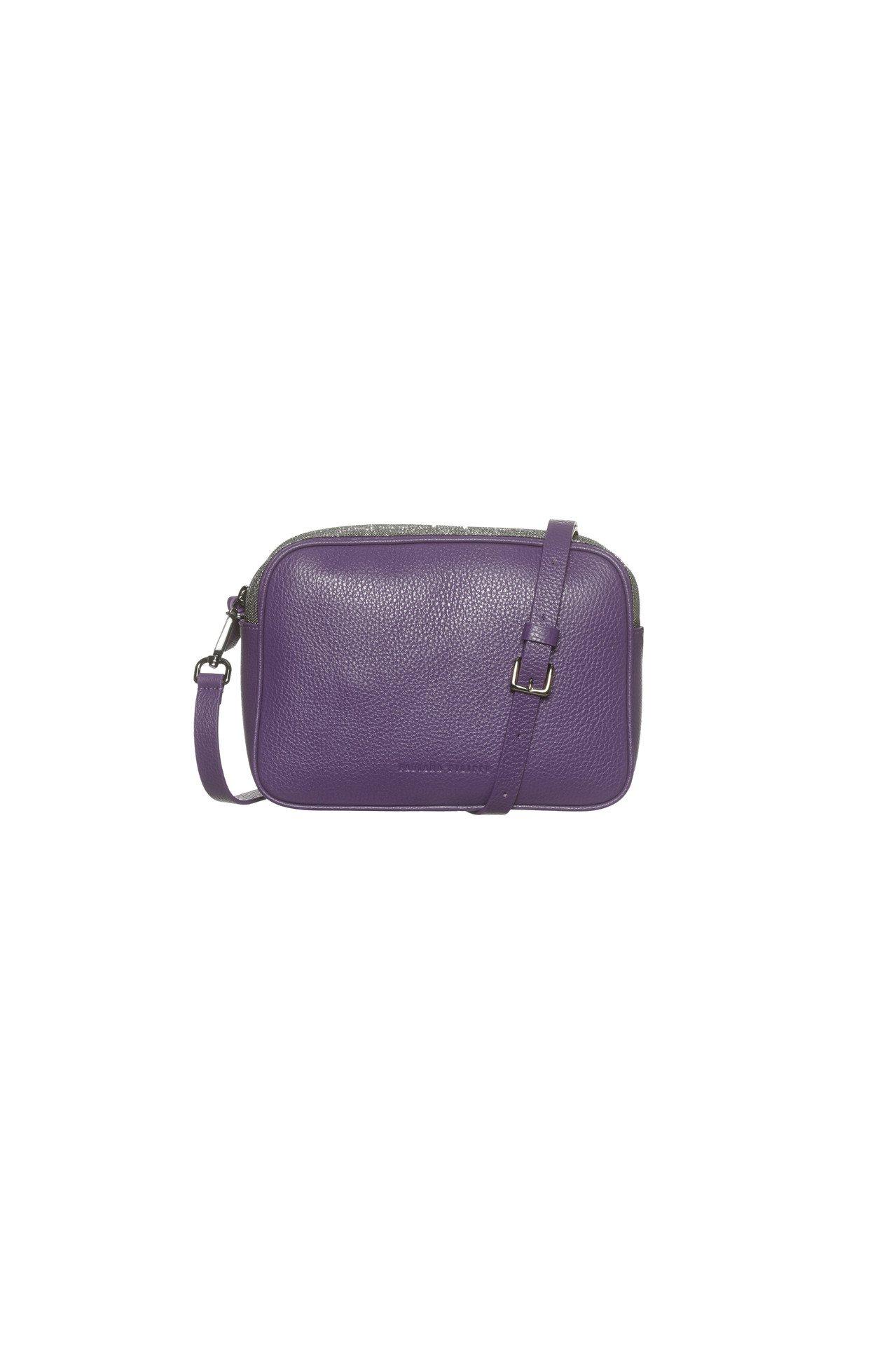 紫色皮革側方包,受價32,300元。圖/FABIANA FILIPPI提供