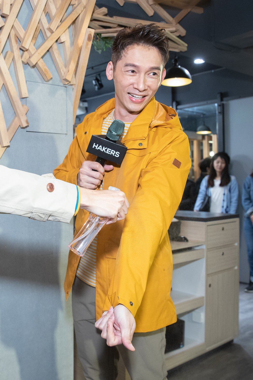 溫昇豪出席休閒服裝品牌活動。圖/哈克士提供