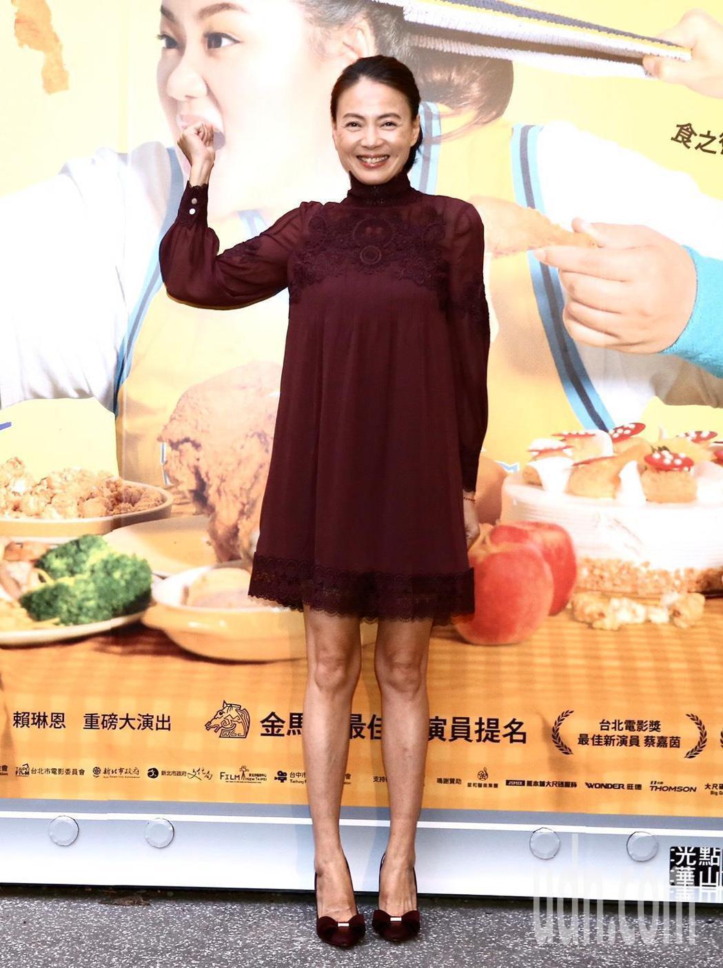 柯淑勤出席電影【大餓】首映會。記者徐兆玄/攝影