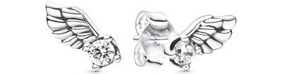 天使羽翼925銀鋯石耳環,1,880元。 圖/PANDORA提供
