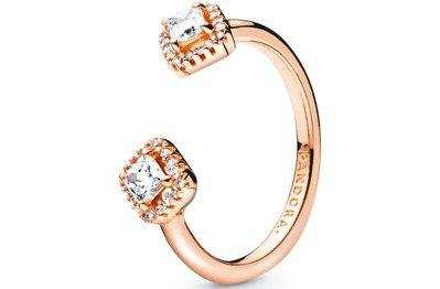 Pandora Rose菱形永恆開放式戒指,3,280元。 圖/PANDORA提...