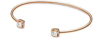 Pandora Rose菱形永恆鋯石開放式手環,6,880元。 圖/PANDOR...
