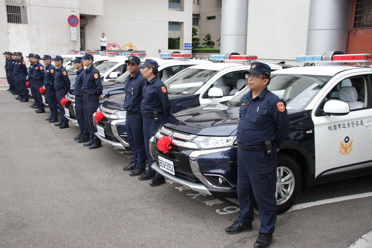 桃園市警局添購汽車54輛、機車204輛。 記者曾健祐/攝影