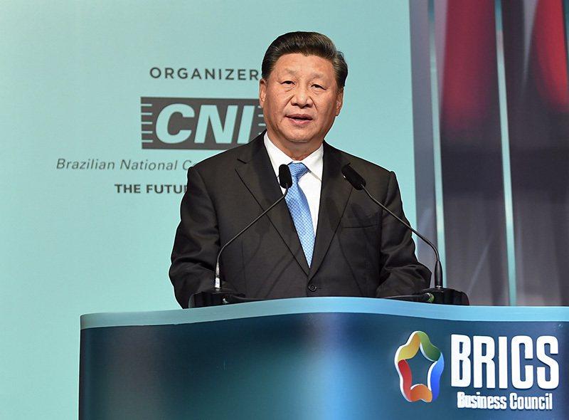 大陸國家主席習近平昨天強調,止暴制亂、恢復秩序是香港當前最緊迫的任務。 圖/取自...