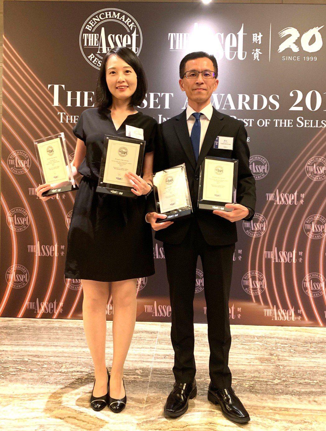 元大證券奪《財資》台灣最佳公司債發行主辦機構四大獎。 元大/提供