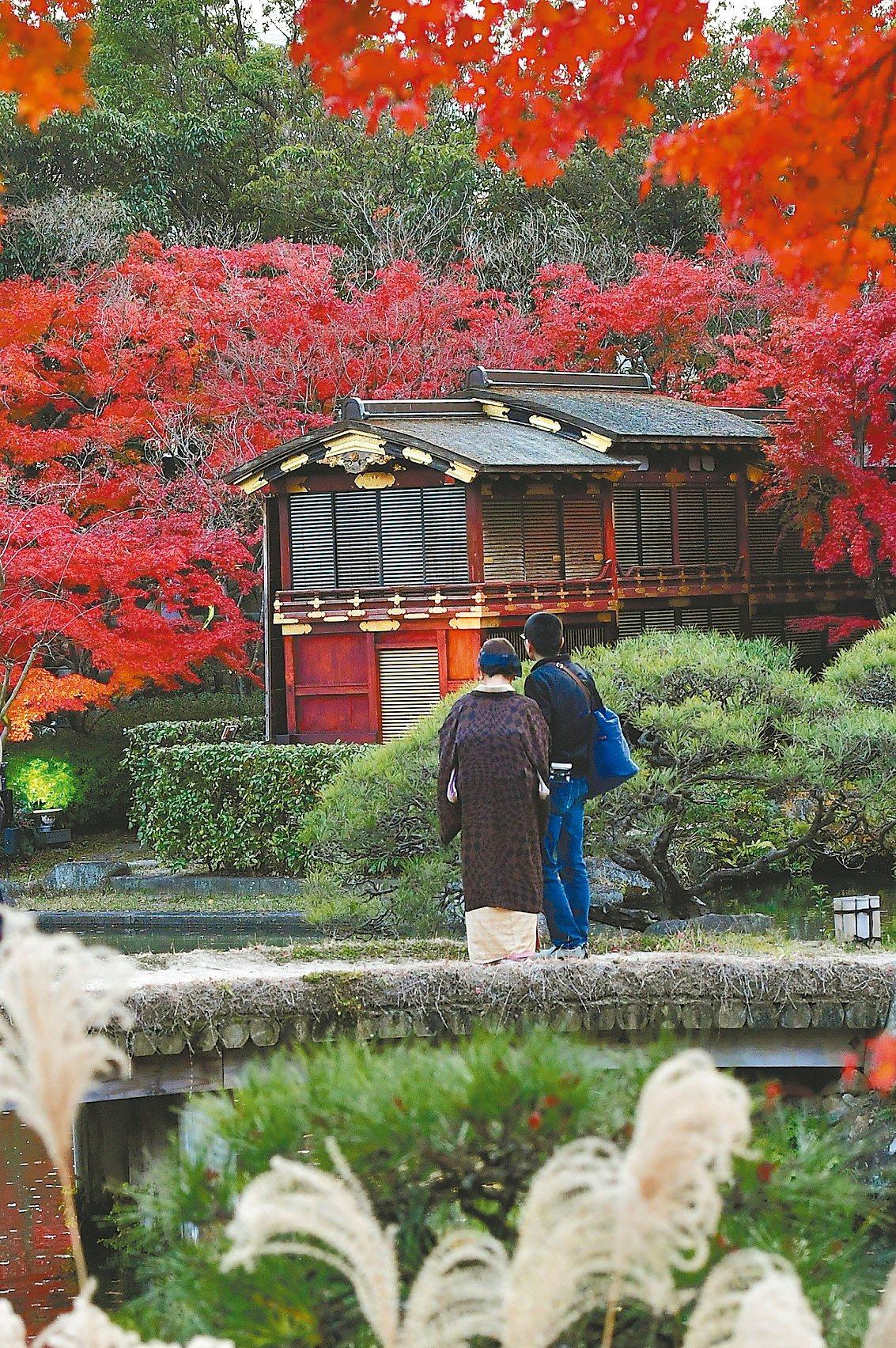 相樂園是神戶唯一的日式回游式庭園。 圖/神戶觀光局台北事務所提供