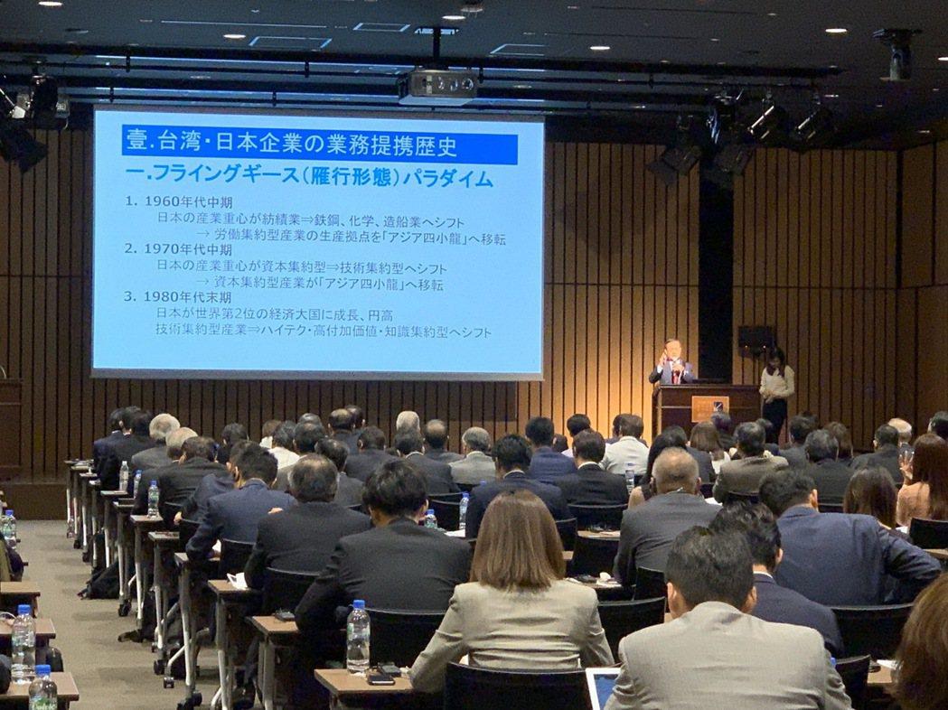 商研院董事長許添財11月15日於亞洲商業研討會中向日本中小企業業者發表專題演說。...