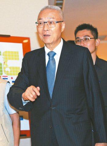 國民黨主席吳敦義。 記者潘俊宏/攝影