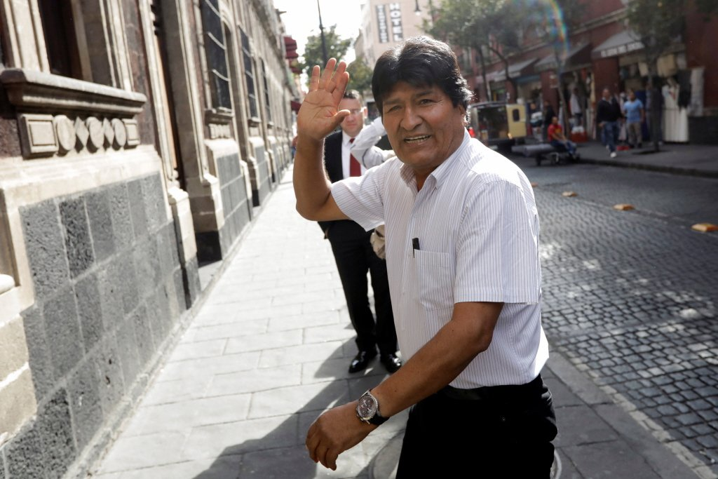 玻利維亞前總統莫拉萊斯。路透