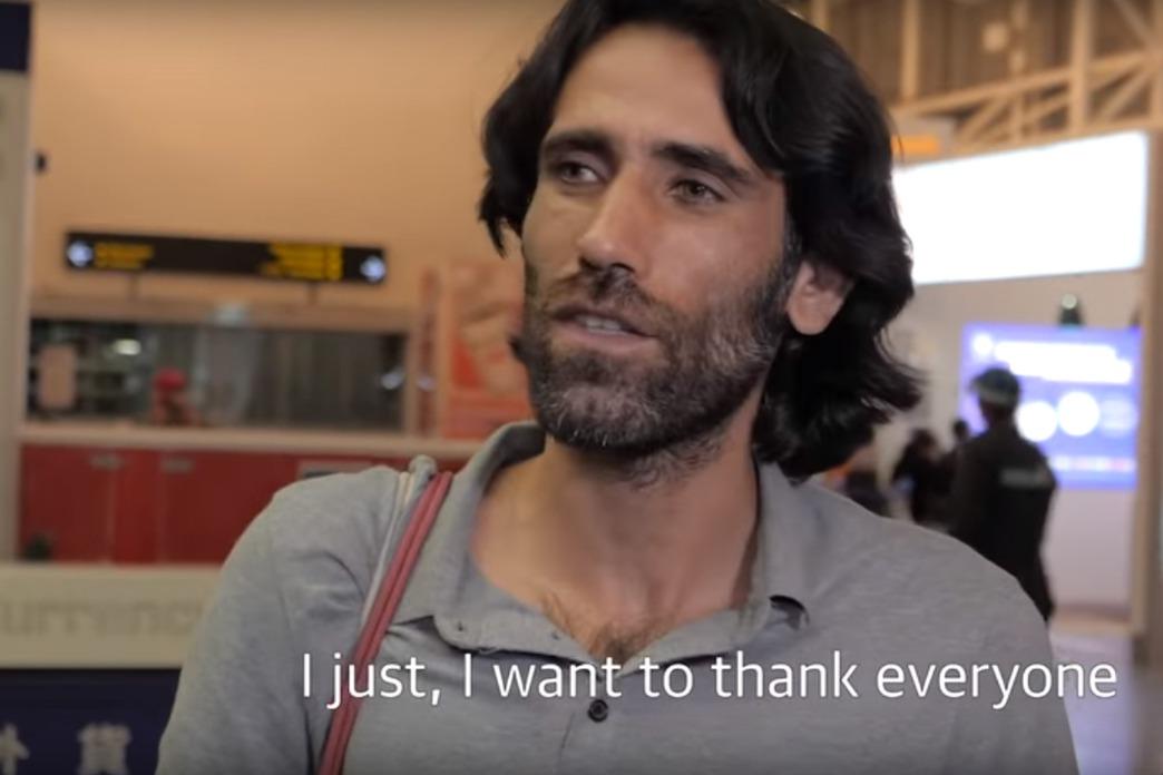 庫德族作家布加尼。圖擷自YouTube/Guardian Australia