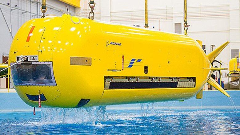 波音為爭奪無人水下載具市場,自資從大型發展到超大型載具。圖為屬於大型水下無人載具...