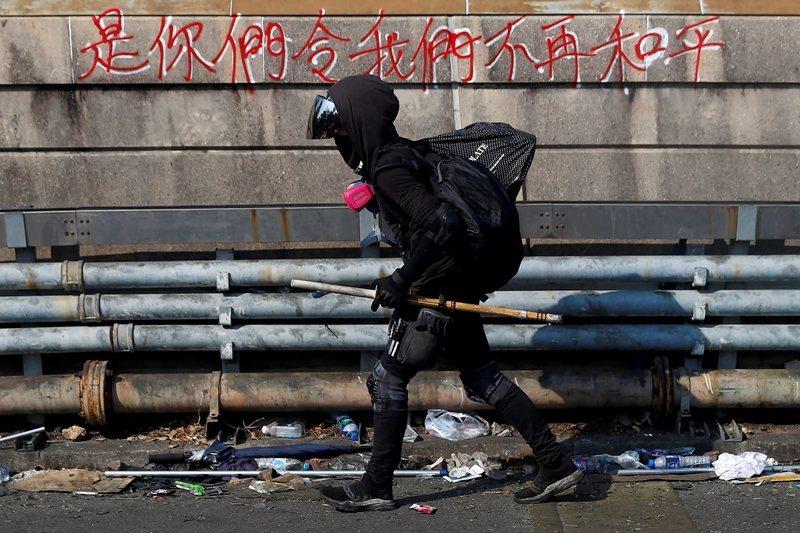 攝於11月13日,香港中文大學。 圖/路透社