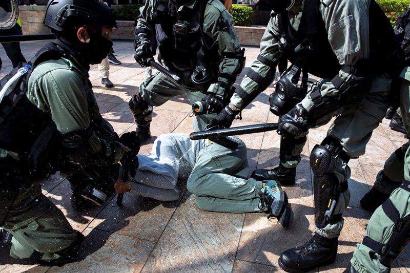 攝於11月13日,香港中環。 圖/路透社