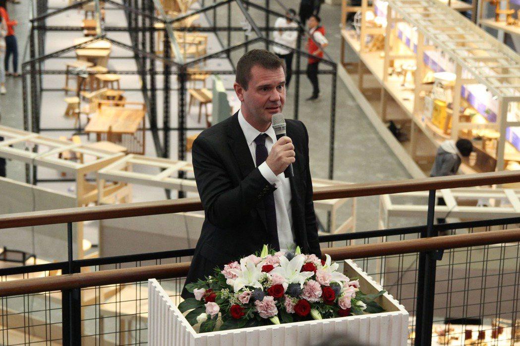 捷克駐台代表Patrick Rumlar 致詞 台北科大/提供