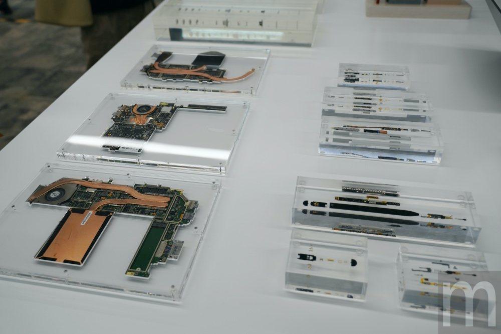 Surface Pro X內部電路板,以及Surface Pen電路構成