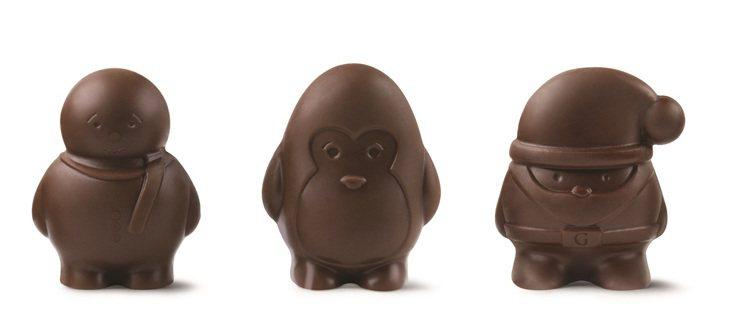 GODIVA耶誕黑巧克力。圖/GODIVA提供