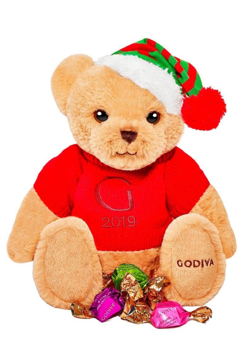 GODIVA耶誕小熊連G Cube松露巧克力禮盒8顆裝,售價1,950元。圖/G...