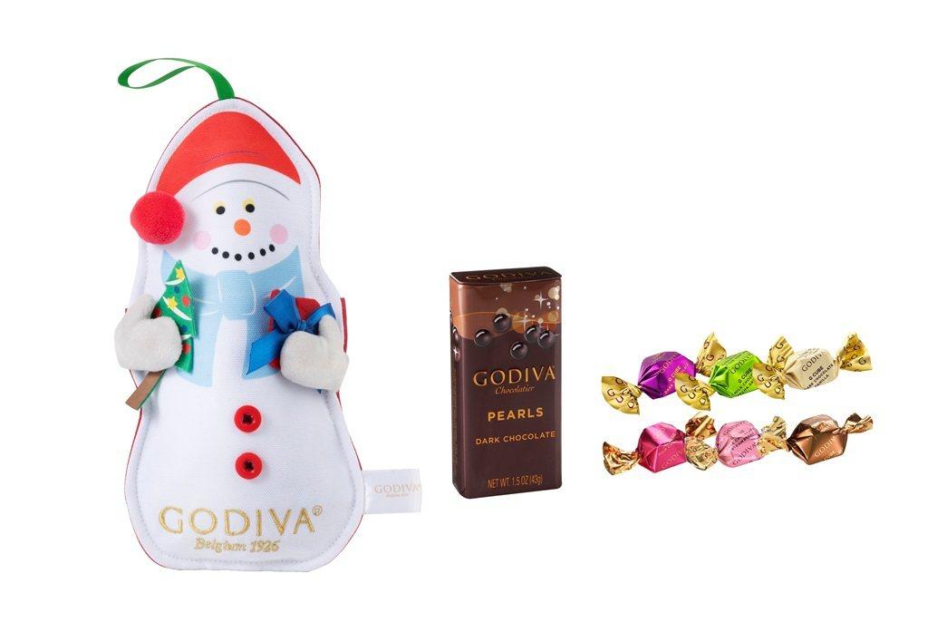 GODIVA「耶誕巧克力雪人小袋」售價650元。圖/GODIVA提供